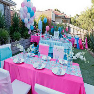 aqua theme party outdoor decoration