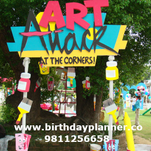 art attack theme party best decorator