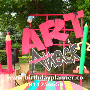 Art attack theme for boys party