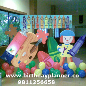 art attack theme birthday party