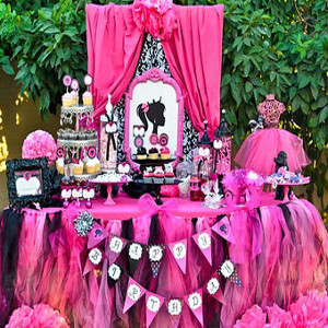 barbie theme party decorator