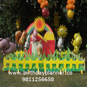Barnyard theme party for birthday party