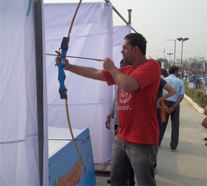 Bow and arrow game for event