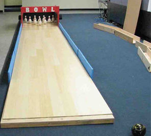 Bowling alley for event