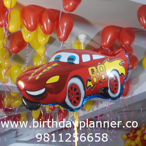 car theme party decoration for party