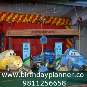 car theme party idea for boys