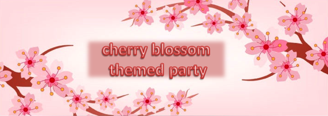 cherry blossom theme party planner