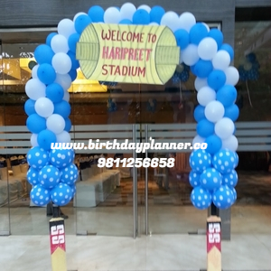 best cricket theme party decorator in delhi