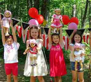 doll theme party for birthday party