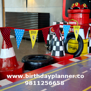 fast track theme birthday party organiser