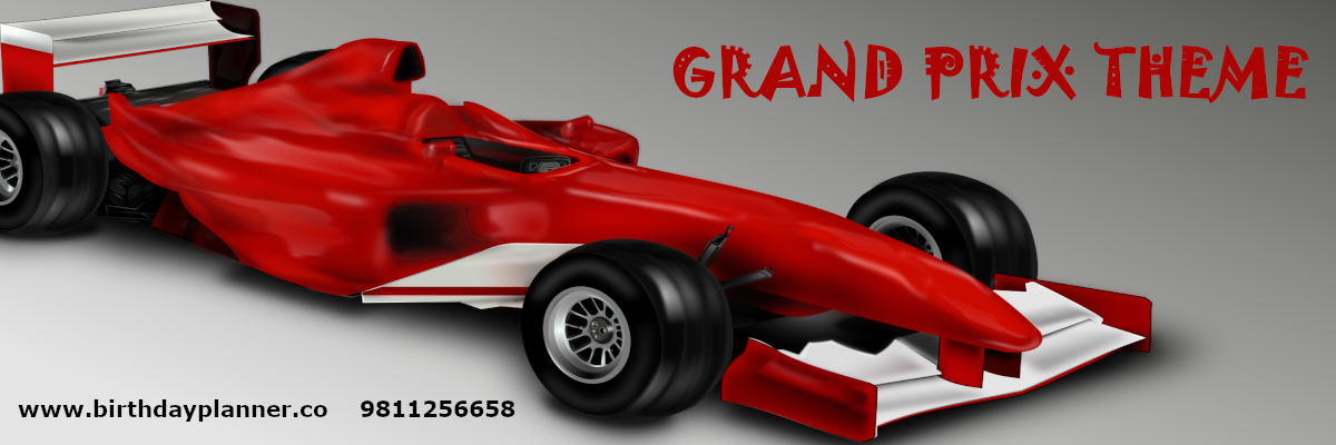 grand prix theme party planner