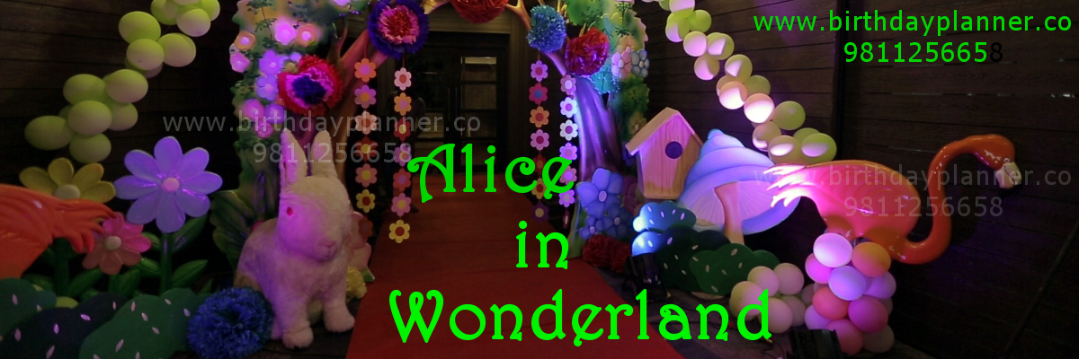 alice in wonderland theme party planner