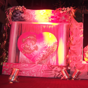 heart theme party decoration for party