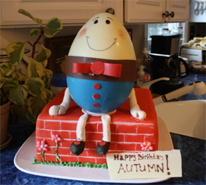 humpty dumpty cake for birthday party