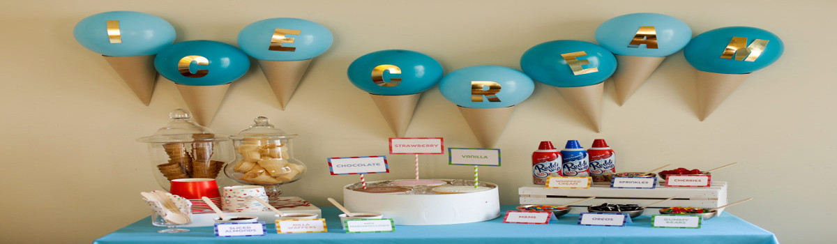 ice cream theme party ideas