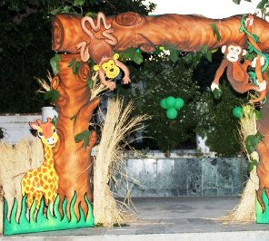 jungle gate for jungle theme decoration