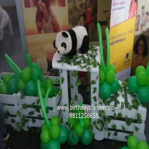 jungle theme birthday party idea