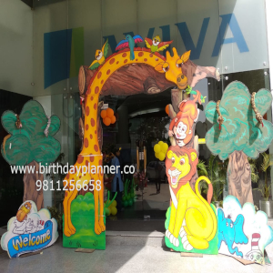 jungle theme party decor
