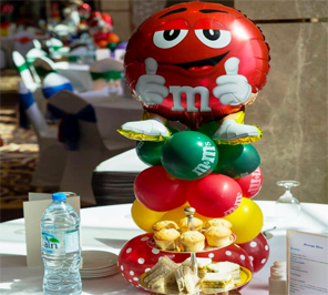 M and M theme party for birthday party
