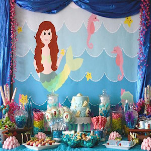mermaid theme party decoration in delhi