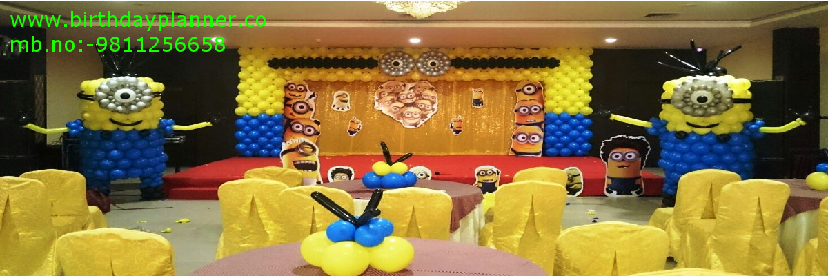 minions theme party planner