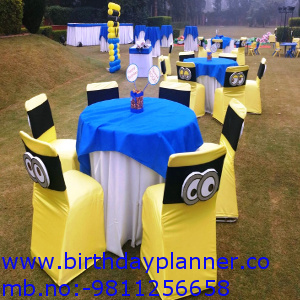 minions theme party outdoor decor