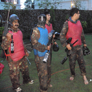Paintball game on rent
