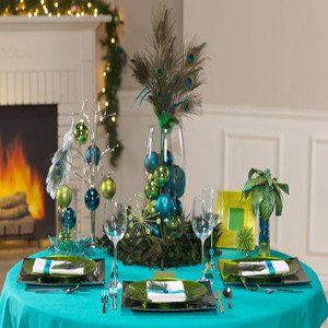 peacock theme party decorator