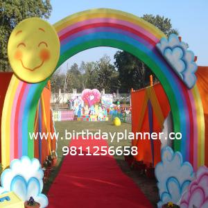 rainbow theme party planner