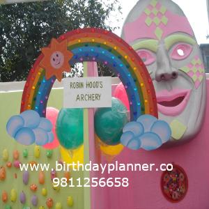 rainbow theme party decoration in delhi