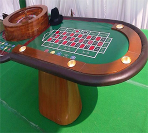 roulette game table on rent