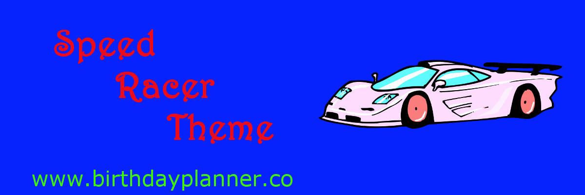 speed racer theme party planner