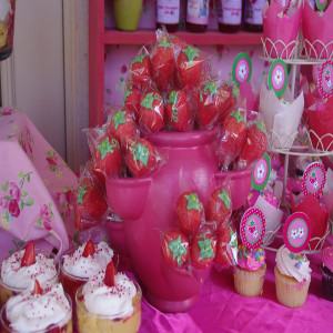 strawberry theme party decoration for party