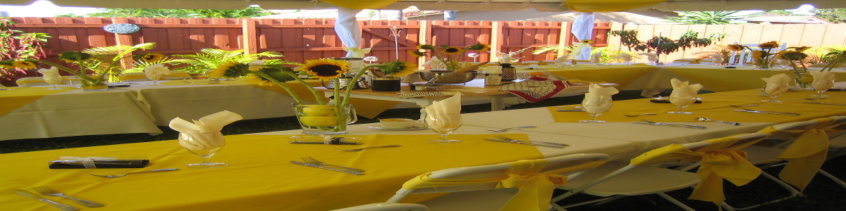 sunflower theme party planner
