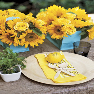 sunflower theme party for kids party