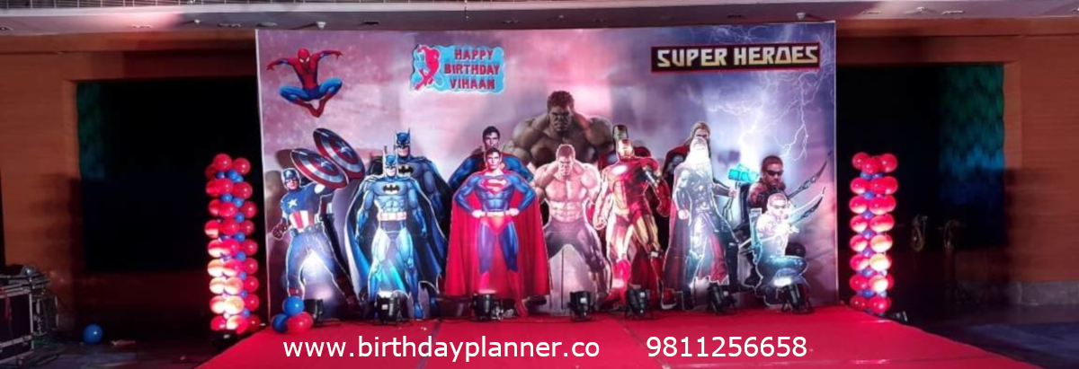 superhero theme party planner