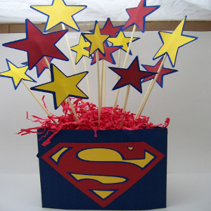 superman theme party decoration for birthday party
