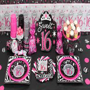 sweet 16 theme party decoration idea