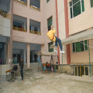 zipline game for party activity