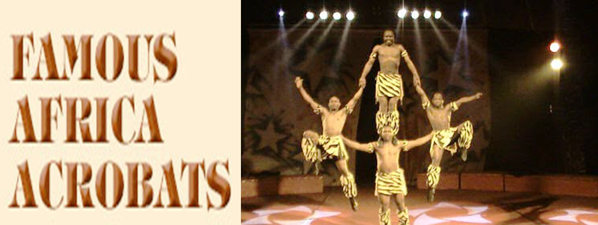 african acrobatic artist on rent