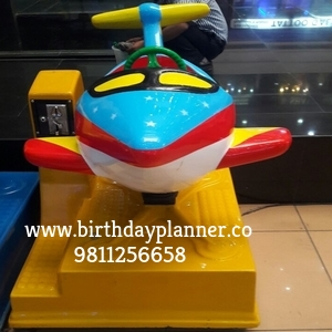 coin ride for children's birthday party