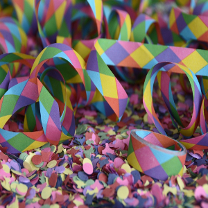 paper confetti for birthday party