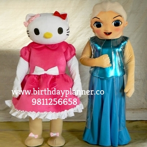 hello kitty and frozen for birthday party