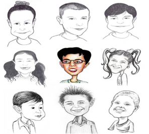 caricature for kids party