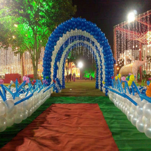 outdoor balloon decoration in india