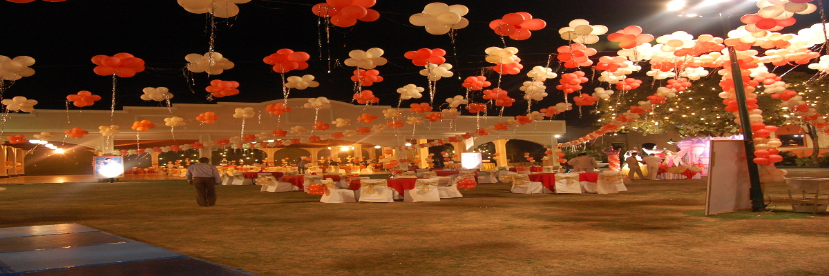 outdoor balloon decoration delhi