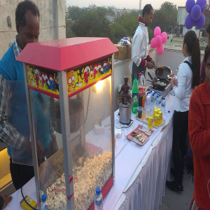 popcorn corner for birthday party