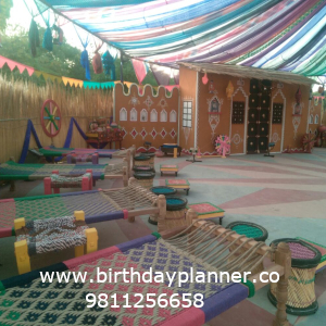 party decoration for rajasthani theme