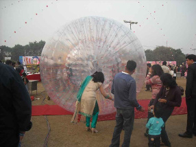 zorbing for adults party