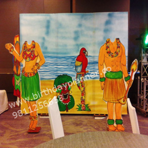 hawaii theme party in delhi